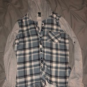 Rue 21 plaid long sleeve button up